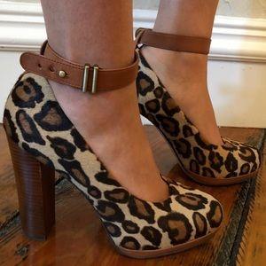Sam Edelman Shoes - Sam Edelman Cheetah Print Heel w Ankle Strap